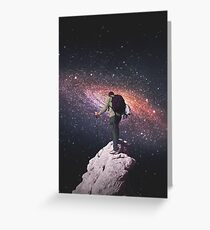 Weltraumtourist Grußkarte