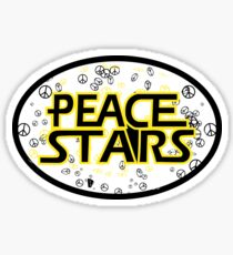 Clear Peace Stars Sticker