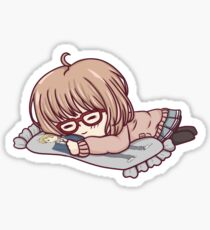 Mirai - Beyond the Boundary - Sleepy Pillow Chibi Sticker