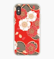 Vintage Japanese Wedding Kimono Pattern iPhone Case