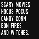 Haunted Houses, Gruselfilme, Hocus Pocus, Candy Corn, Bonfire & Hexen von kjanedesigns