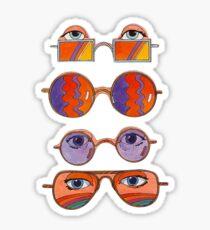vintage glasses design Sticker