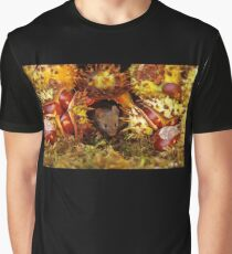 Autumn wild mouse with Horse chestnuts - conkers  Graphic T-Shirt