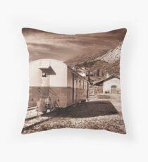 Provence Mountain Train Station... Throw Pillow