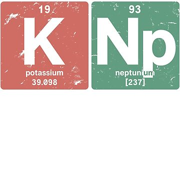 K Np - Chemical elements 1993 25th birthday by hsco