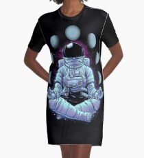 Meditation Graphic T-Shirt Dress