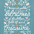 Virginia Woolf Library Literature Quote - Book Nerd by arosecast
