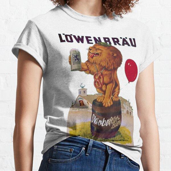 German Oktoberfest party with Lowenbrau Lion Classic T-Shirt