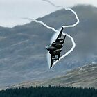 USAF  F15C Eagle pulling G in the Mach Loop Wales by PhilEAF92