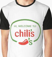 Hi Welcome to Chili's Vine Graphic T-Shirt