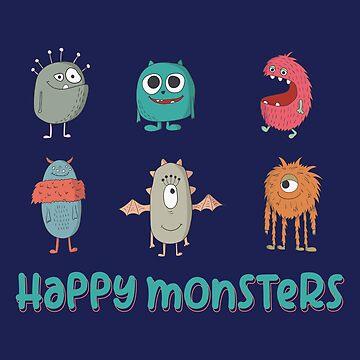 HAPPY MONSTERS by boesarts