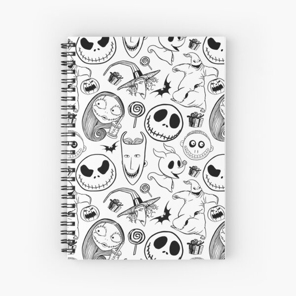 Nightmare before Christmas Pattern Spiral Notebook