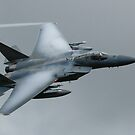 USAF F15C flying through the Mach Loop in Wales by PhilEAF92
