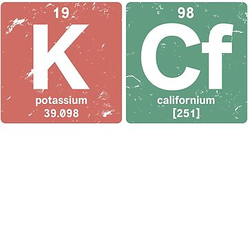 K Cf - Chemical elements 1998 20th birthday by hsco