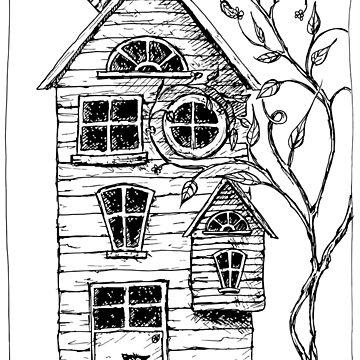 Haus im Wald mit Katze von maysi
