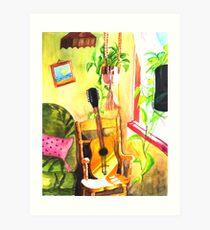 Guitar :: Tridib Ghosh :: Paint This photo Challenge Art Print
