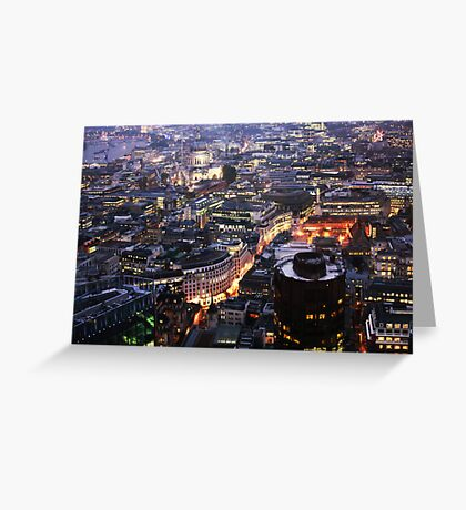 End Of Day in the Square Mile Greeting Card
