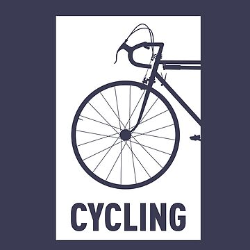 Cycling maniac, bike lover sport fan Bicycle cyclist road racing by Buno