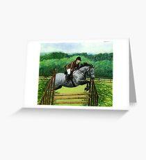 Connemara Pony Hunter Portrait Greeting Card