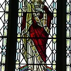 Stainglass window of Jesus by Woodie