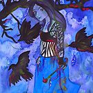 Raven Witch - Electric Blue  by Niina Niskanen