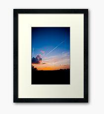Contrails Framed Print