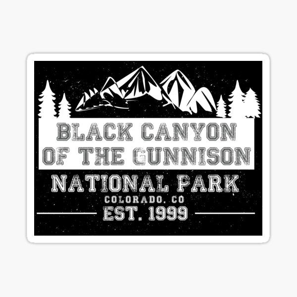 co hike colorado American Vinyl ROUND Black Canyon of the Gunnison National Park Sticker