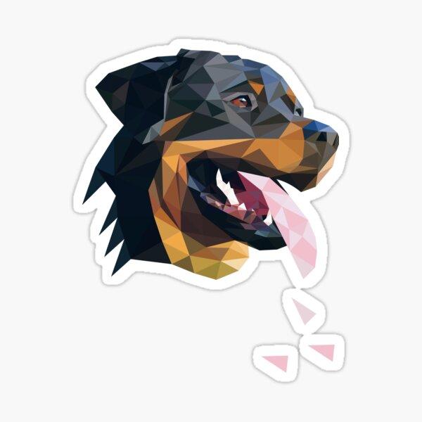 Rottweiler low poly art Sticker