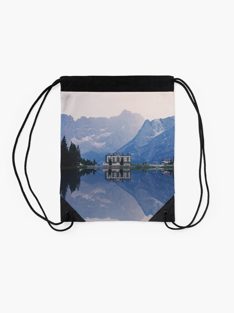 Alternate view of Grand Mountain Hotel - Dolomites Collection Drawstring Bag