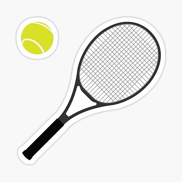 Raquette de tennis et balle 1 Sticker