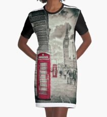 London Telephone Box Graphic T-Shirt Dress