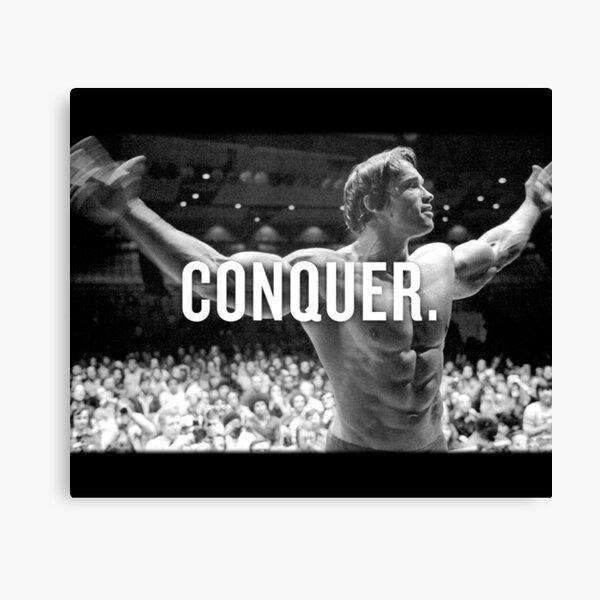 Arnold Schwarzenegger Conquer Canvas Print