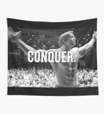 Arnold Schwarzenegger Conquer Wall Tapestry
