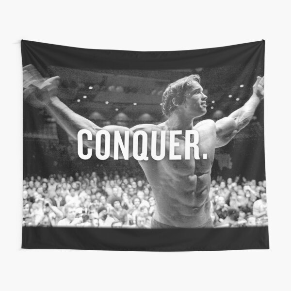 Arnold Schwarzenegger Conquer Tapestry