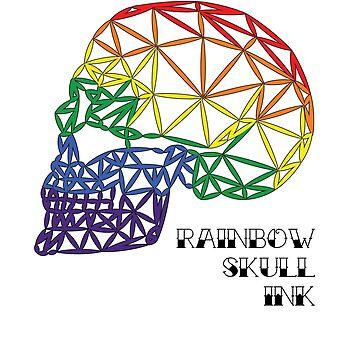 Rainbow Skull Ink_No Background by Tamz-T