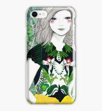 Ferns and Fuschia iPhone Case/Skin