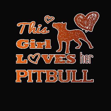 Girl loves her pitbull by Myriala