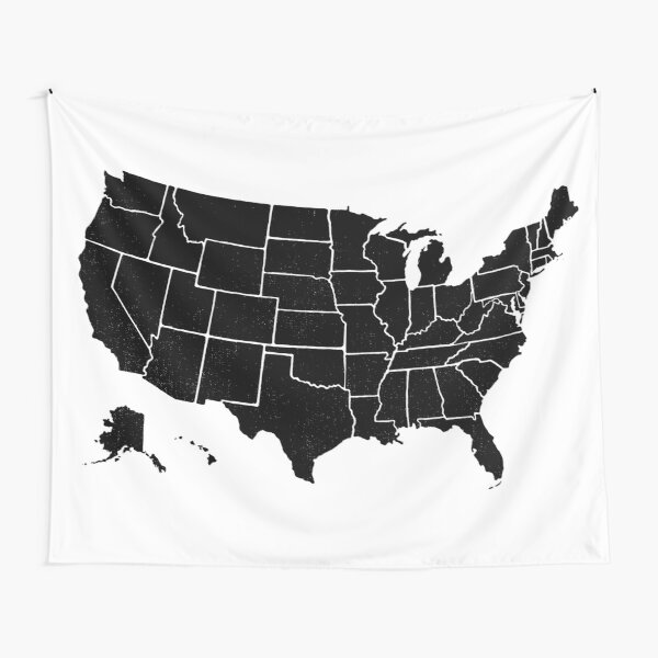 Simps United States Map Tapestry
