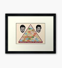 Swanson Pyramid of Greatness Framed Print