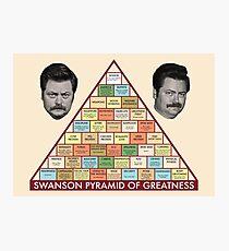 Swanson Pyramid of Greatness Photographic Print