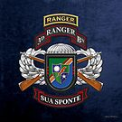 3rd Ranger Battalion - Army Rangers Special Edition over Blue Velvet by Serge Averbukh
