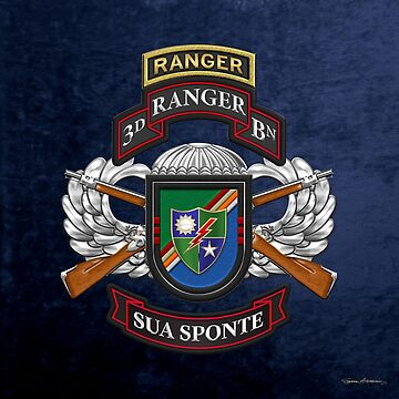 3rd Ranger Battalion - Army Rangers Special Edition over Blue Velvet by Captain7