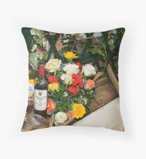 Roses & Wine Throw Pillow