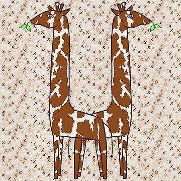 Brown Giraffe Print by 2HivelysArt