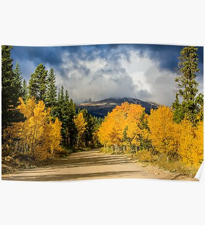 Fall Rocky Mountain Road  Poster
