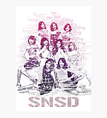 SNSD OT9  Photographic Print
