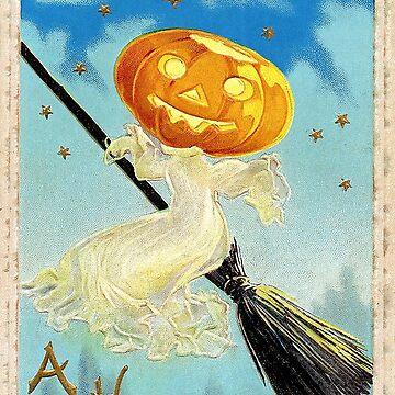 Happy Halloween Pumpkin Witch by Falln