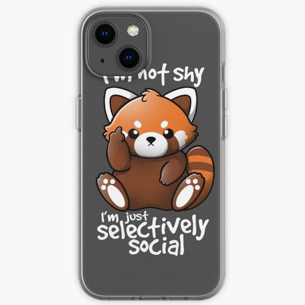 Shy red panda iPhone Soft Case