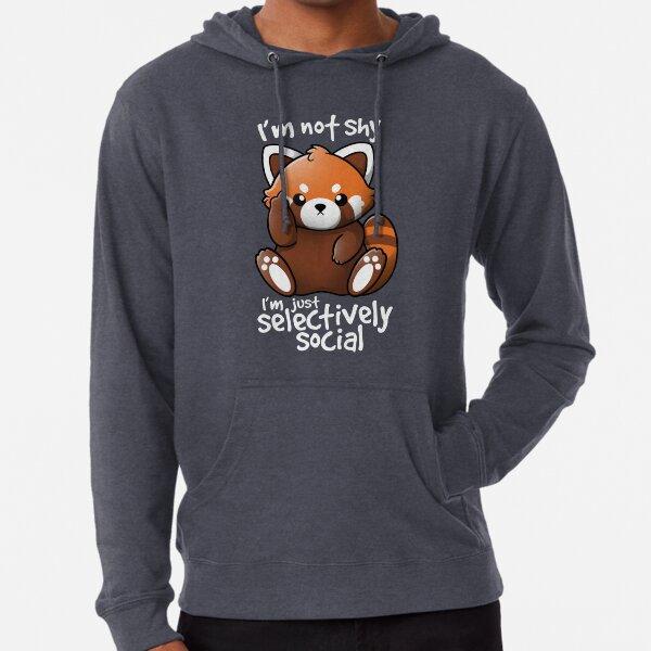 Shy red panda Lightweight Hoodie