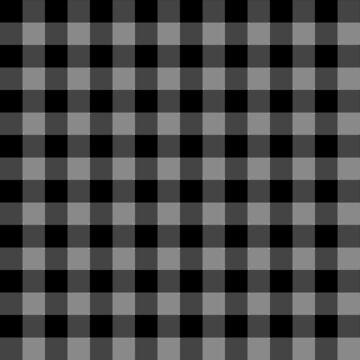 Rustic Gray and Black Buffalo Plaid Pattern by KokoloHG